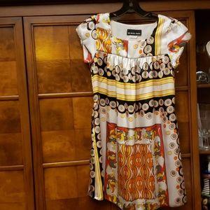 UN DEUX TROIS Short Sleeve Dress Size 14